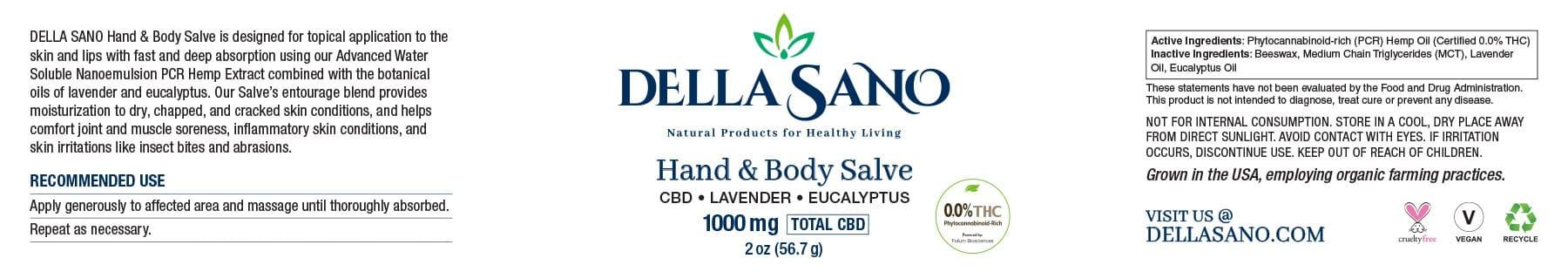 CBD salve.label