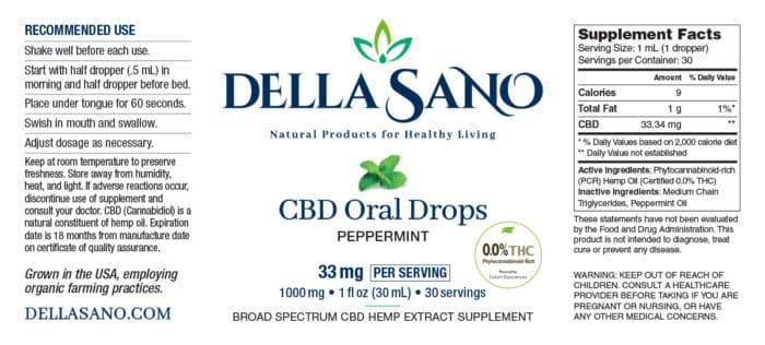 CBD Oral Drops 33mg