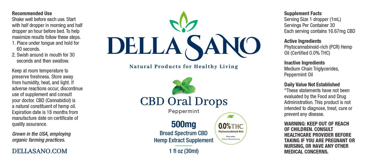 CBD Oral Drops 50mg