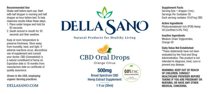 CBD Oral Drops 500mg